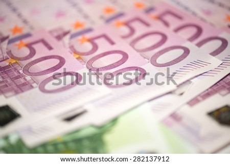 Euro money banknotes background - stock photo