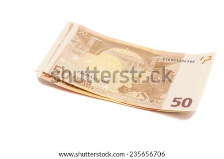 Euro money banknotes. 50 euro  - stock photo