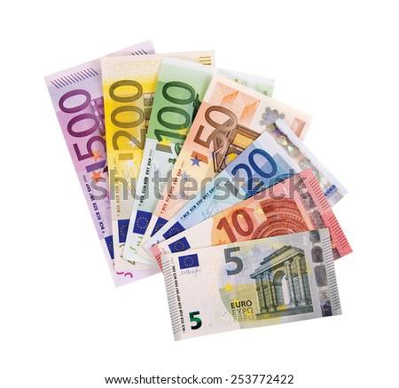Euro � Money � Notes - stock photo