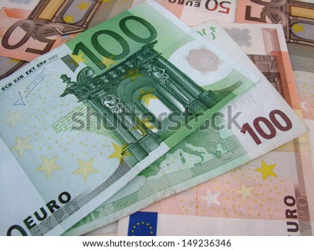 euro notes - stock photo