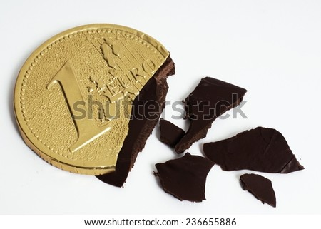 euro out of chocolate - stock photo