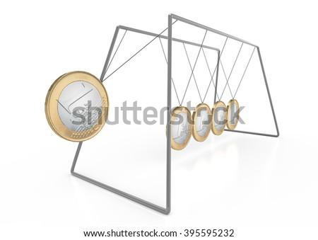 Euro-Pendulum - stock photo