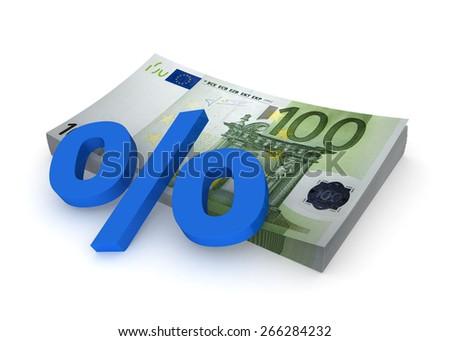 Euro - percents - stock photo