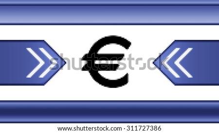 Euro. Proportion 16:9 - stock photo