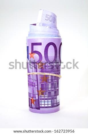 euro roll   - stock photo