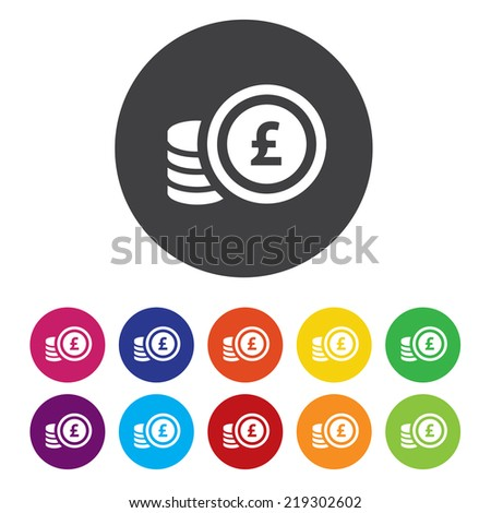Euro sign icon. EUR currency symbol. Money label. - stock photo