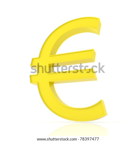 Euro sign isolated on white.