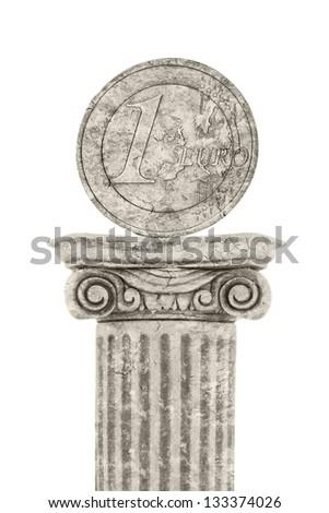 Euro Statue - stock photo