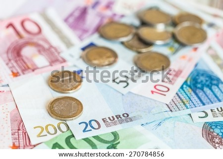 Euro Symbol, European Union Currency, Currency. - stock photo