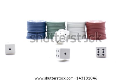 euro tokens to play a game in a casino - stock photo