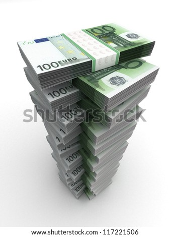Euro Tower Money Concept (Computer generated image) - stock photo
