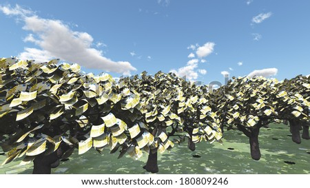 Euro Trees - stock photo