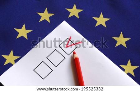 euro vote flag - stock photo