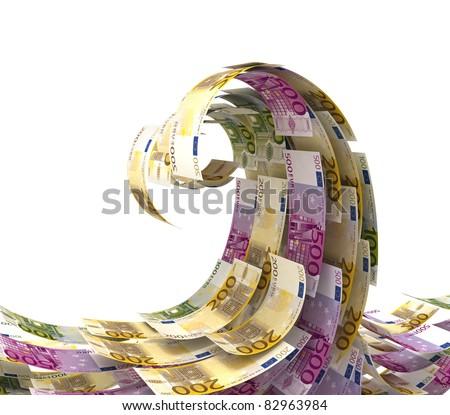 Euro wave - stock photo