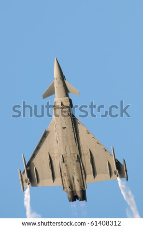 Eurofighter typhoon. No brands,names,plates,etc recognizable. - stock photo