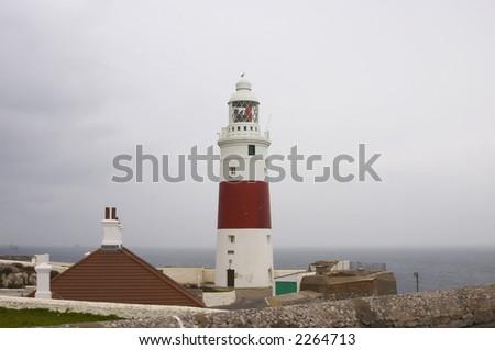 Europa point Lighthouse - stock photo