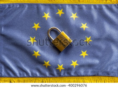 Europe closing Borders. Concept for closed borders in the European Union - stock photo