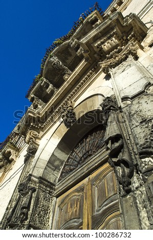 Europe, Italy, Sicily, view of Balcony Modica baroque town (UNESCO World Heritage), in Sicily (Italy). - stock photo