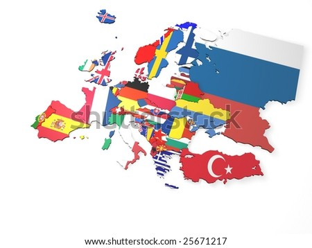 Europe Map - stock photo