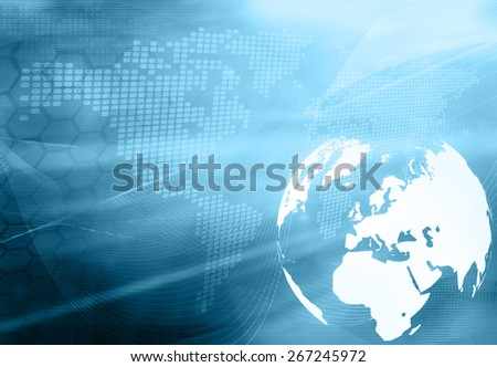 Europe map technology style artwork for your design - stock photo