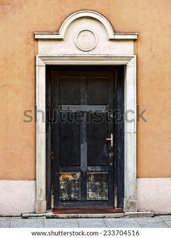 Europe, Poland, Gdansk - one of the many doors of Old Town