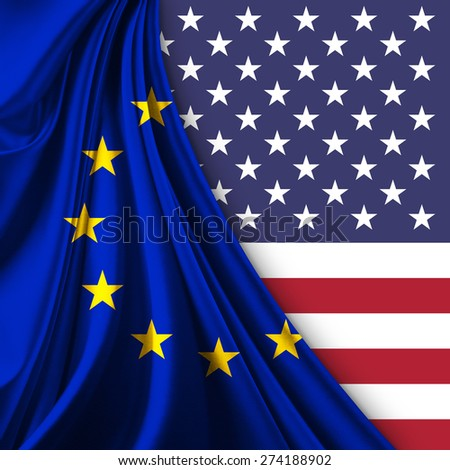 Europe union and United States - stock photo