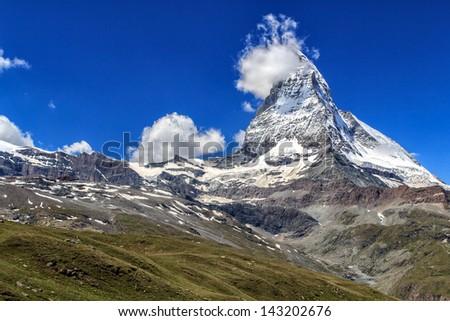 European Alps, Matterhorn - stock photo