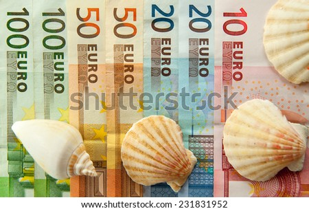 European Bank notes, Euro currency from Europe, Euros.  - stock photo