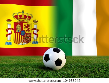 European cup  the Spain national team and Ireland national team