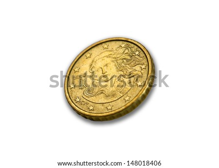 European Currency, Euro cents Coins.