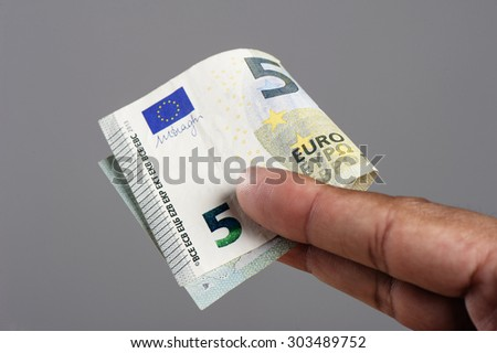 European currency money, euro bank notes.