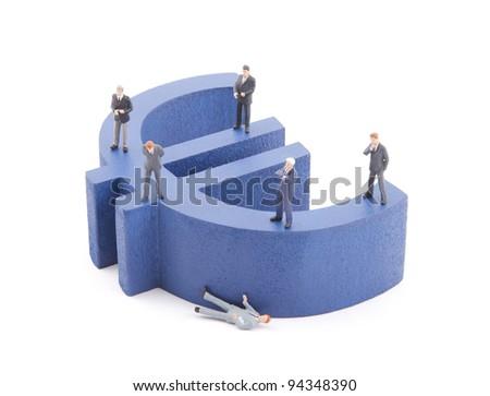 European economic crisis - stock photo