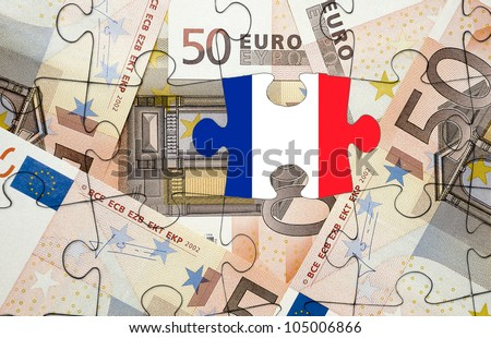 European financial crisis concept: Crisis in France - stock photo