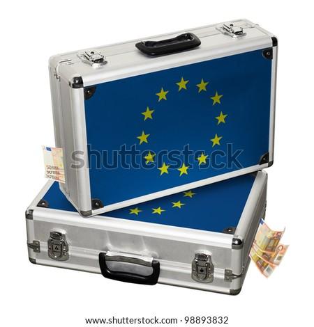 European financial crisis. Financial assistance. - stock photo