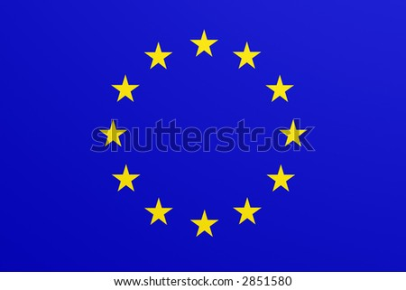 european flag - stock photo