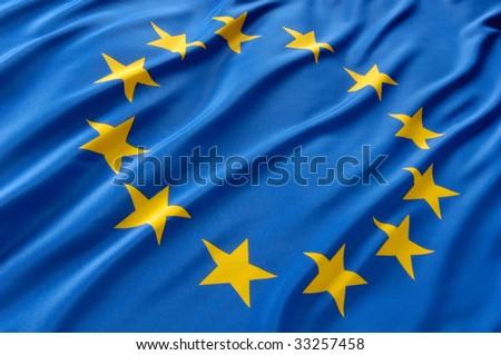 European flag - stock photo