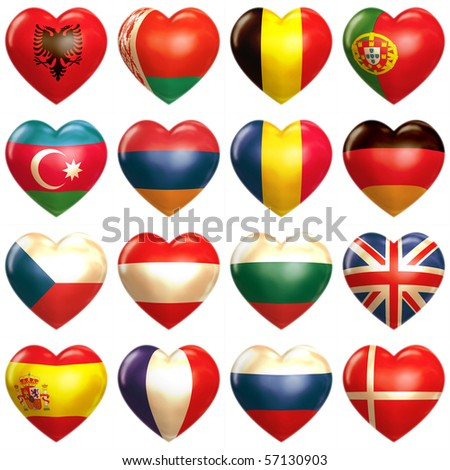 European Hearts - stock photo