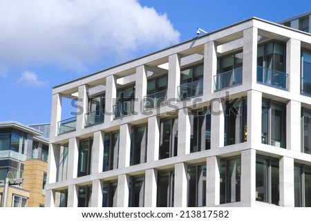 European modern residential architecture  - stock photo