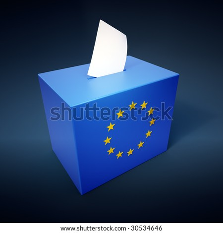 European parliamentary elections abstract - stock photo