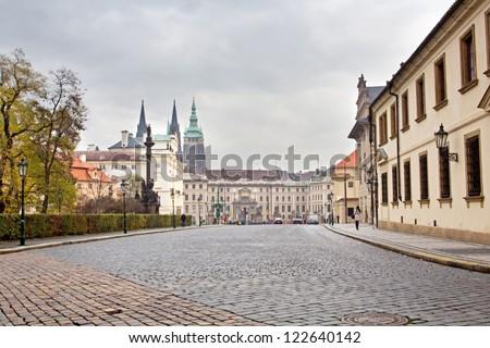 European Town Square - stock photo
