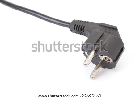 European two pin power plug - (CEE 7/7, French/German)