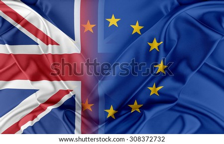 European Union and United Kingdom. The concept of relationship between EU and United Kingdom. - stock photo