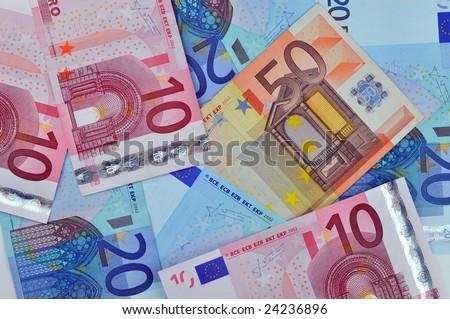 European Union banknotes background - stock photo