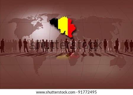 European Union countries: Belgium - stock photo
