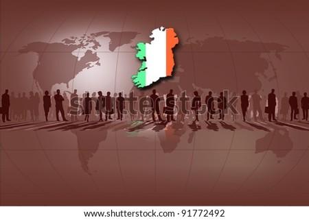 European Union countries: Ireland - stock photo