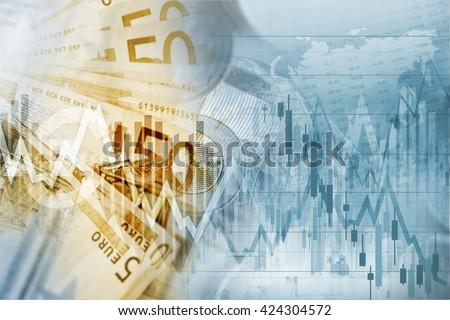 European Union Euro Money Conceptual Graphic. Forex Euro Trading - stock photo