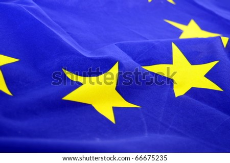 european union flag background with copypsace for textmessage