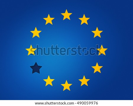 European Union Flag Without Star Graphic