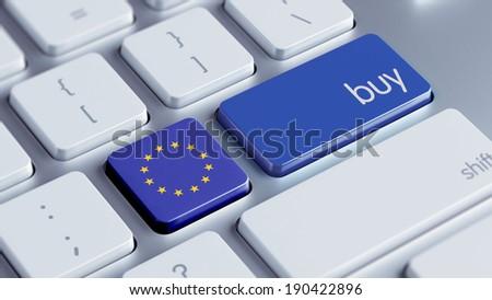 European Union High Resolution Buy Concept - stock photo