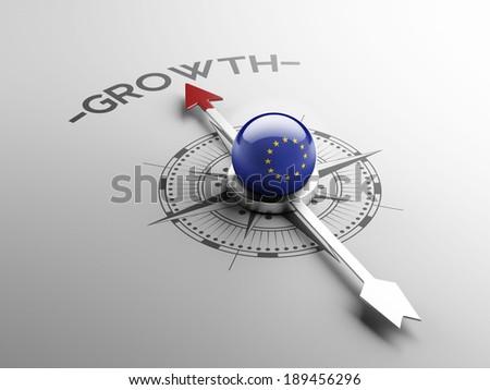 European Union High Resolution Growth Concept - stock photo